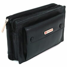 New Leather Clutch Bag Travel Case Mens Wallet Organizer Purse by Alpine Swiss