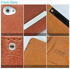 Luxury KLD Leather Folio Protective Skin Case Cover f Apple iPhone 4 4S 100% New