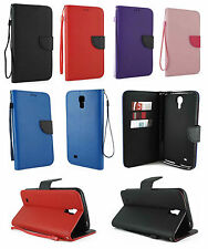 For Samsung Galaxy Mega 6.3 Leather Wallet Flip Case Cover w/ Card Holder &Strap