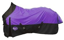 Purple Black 1200D Waterproof Horse Turnout Blanket Sheet Tack 72 75 78 81