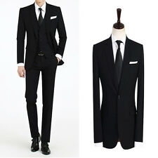 High-class for men`s dress wedding party 3-piece warm black dandy wool suits 302