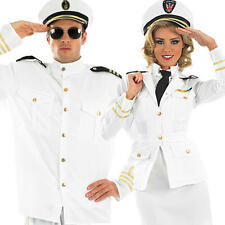 Navy Officer Adults Fancy Dress Military Uniform Mens Ladies Costumes Outfits