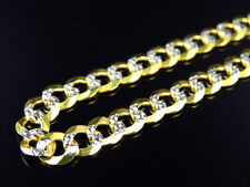 Solid 10K Yellow Gold 5.5MM Flat Diamond Cut Mariner Link Chain Necklace 18-30""