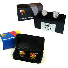 FC Barcelona Official Football Gift Boxed Executive Crest Cufflinks