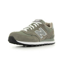 Chaussures baskets New Balance Homme M574 taille Gris Grise Cuir Lacets
