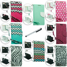 For Samsung Galaxy Avant G386 Design Wallet ID Pouch Case Phone Cover Stylus NEW
