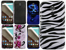 For Motorola Nexus 6 Hard Protector Case Snap On Phone Cover + Screen Protector