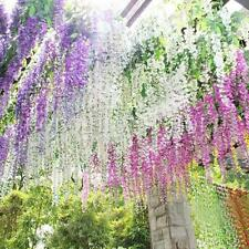 Silk Wisteria Flowers Vine Home Decor Artificial Plant Garland Wedding Hanging