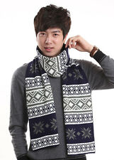 2014 Winter New Style Trend Korean Mens Scarves Worm Snowflake Floral Soft Hot
