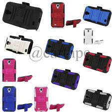 Samsung Galaxy S4 / I9500 Rugged Hybrid Armor Stand Case Cover Belt Clip Holster