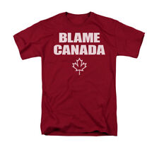 Blame Canada Maple Leaf Humorous Funny Saying Adult T-Shirt