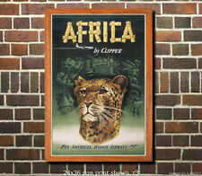 Pan Am Africa - Vintage Airline Travel Poster [6 sizes, matte+glossy avail]