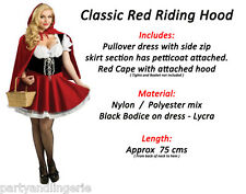 Sexy Classic Adult Little Red Riding Hood Fancy Dress Costume halloween Party
