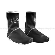 Tour de France Cycling Bike Fleece Windproof Shoe Cover  Velcro Overshoes Black