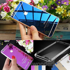 Front+ Back Mirror Effect Color Tempered Glass Screen Protector+ Free Case Cover