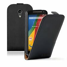 ULTRA SLIM Leather Case Cover Pouch for Motorola Moto G 2nd Gen 2014