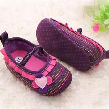 Cute Baby Girl Flower Ruffled Shoes Toddler Soft Sole Crib Shoes Prewalkers A42