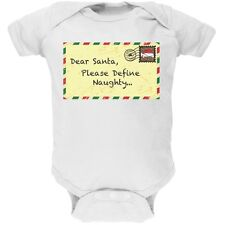 Dear Santa Please Define Naughty White Newborn Infant One Piece Onesie