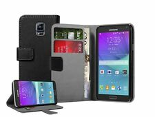WALLET Leather Flip Case Cover Pouch Saver For Samsung Galaxy Note 4