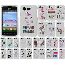 For Verizon LG Optimus Zone 2 Fuel VS415PP L34C Case HARD Cover Hakuna Matata