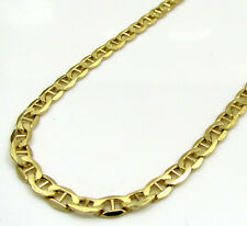 "16-24"" 3.5mm 10k Yellow Gold Tight Mariner Hollow Anchor Chain Necklace Mens"