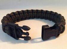 Military Police Olive Drab Paracord Survival Bracelet w/ Handcuff Key Buckle