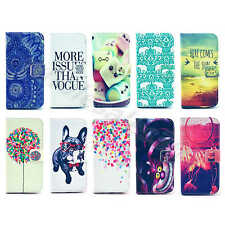 For Multi Cellphones Wallet Cases Leather Classical Stand Skinny Flip Card Cover