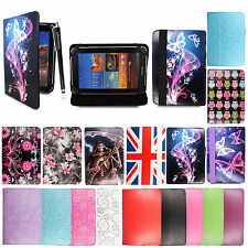 "Tablets stylus leather stand case cover for various new universal 7"" PU"