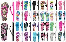 NWT Justice Girls Assorted Beach/Pool Swim Flip Flops Sandals U Pick Size! NEW