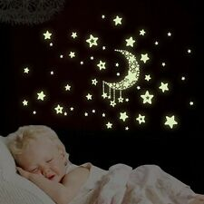 Glow In Dark Removable Vinyl Kids Baby Home Decor Mural Wall Stickers Decal