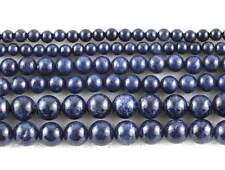 AAA Round 4 6 8mm Natural Sapphire Loose Gemstone Beads 15''
