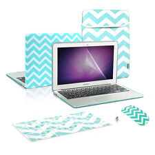 "CHEVRON Style Hard Case KB Cover, LCD, Bag, Mouse for Macbook Air13"" A1466/A1369"