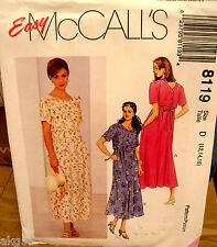 McCall's 8119 Misses Pullover Dress with Back Buttoned Bodice Pattern MANY SIZES
