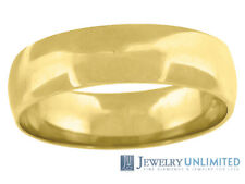 Solid 10K Yellow Gold Mens Ladies Wedding Engagement Ring Band 6mm Size 5-13