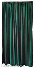 156-inches High Ceiling Forest Green Velvet Curtain Long Panel Window Rod Drapes