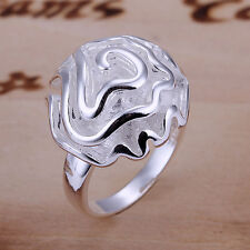 Ms. Rose Fashion S80 Silver Ring Size6-10 jewelry gift H72