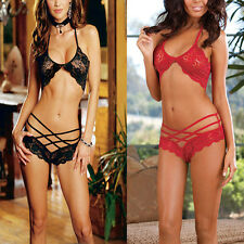 Hot Sexy Women's Lingerie Lace Dress Underwear Sleepwear Babydoll + G-string