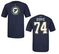 St. Louis Blues TJ Oshie Alternate Logo Navy Blue T-Shirt