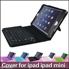 Leather Wireless Bluetooth Keyboard Case Cover For Apple iPad MINI