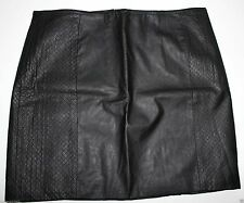 H&M BLEISTIFT ROCK LEDER IMITAT FAUX LEATHER SHORT SKIRT 38-40-42