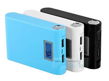 12000mAh LCD LED Portable 2 USB External Power Bank For iPhone Samsung HTC iPod