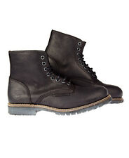 New Mens Superdry Bunker Boots Black