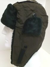 Mens Microfiber Trapper Trooper Bomber Winter Snow Cossack Faux Fur Hat Cap #652