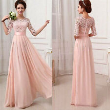Chic Long Chiffon Evening Formal Party Ball Gown Prom Wedding Bridesmaid Dress