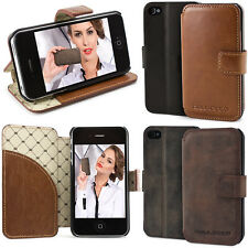 iPhone 4S 4 Book Case ECHT LEDER Handytasche Hülle Cover Bouletta WalletCase