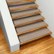 Set of 12 SKID-RESISTANT Carpet Stair Treads PRALINE BROWN runner rugs