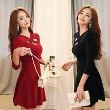 Sexy Autumn Winter Women Bandage Evening Party Club Cocktail Sweater Mini Dress