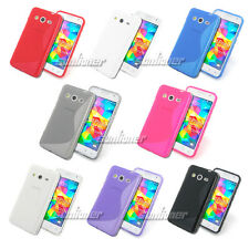Gel TPU Skin Case Cover for Samsung Galaxy Grand Prime, G530H +Screen Protector