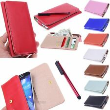 Fashion Slim Leather Wallet ID Pouch Case for Samsung Galaxy Exhibit T599 NEW