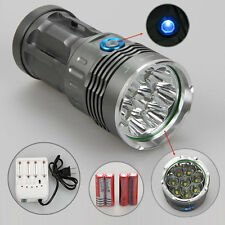 SKYRAY 8X CREE XM-L T6 LED 12000 Lumen Lampada Torcia luce Torch 18650 Batteria